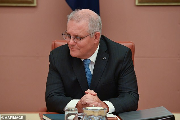 Scott Morrison on Tuesday said the country's vaccination program was well behind schedule because 3.1million jabs had not arrived from Europe