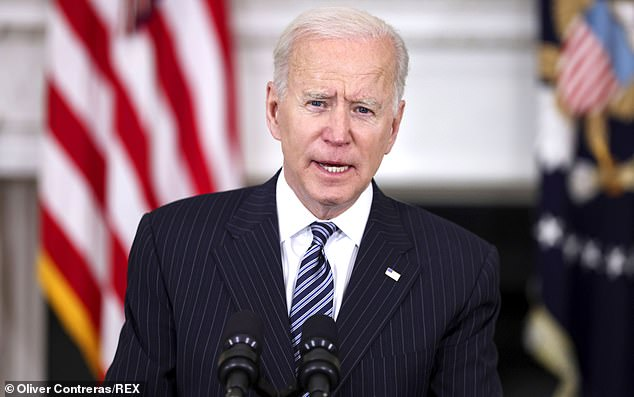 Biden, seen on Tuesday, unveiled on March 31 his plan to improve America's infrastructure