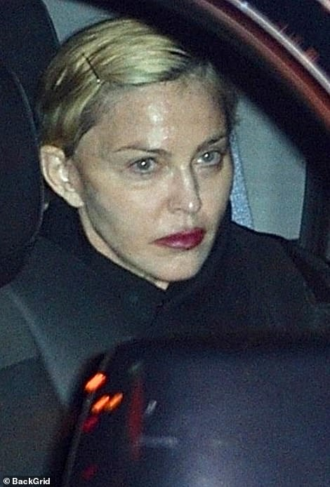 A snap of her in the back of a car leaving a party in 2018 revealed the super star's real face