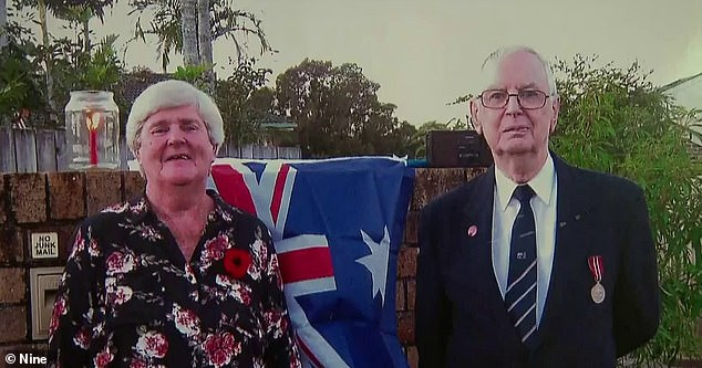 Sunshine Coast coupleJulie and Vaughan McLeod (pictured together) have been told they not allowed to fly an Australian flag in the backyard of their home