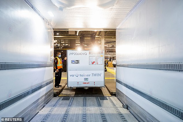 While markets collapsed due to the pandemic, some businesses capitalized on the need for medical equipment and data, coronavirus tests, vaccines, and the required infrastructure. Pictured:a shipment from Europe of the Moderna vaccine against COVID-19 into a refrigerated delivery truck at Toronto Pearson Airport in Mississauga, Ontario, Canada March 24, 2021