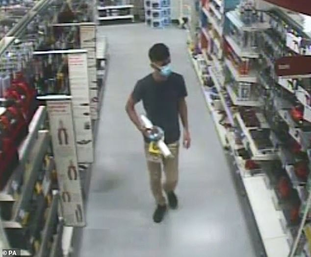 CCTV footage of Azam Mangori, who has been convicted of the murder of Lorraine Cox