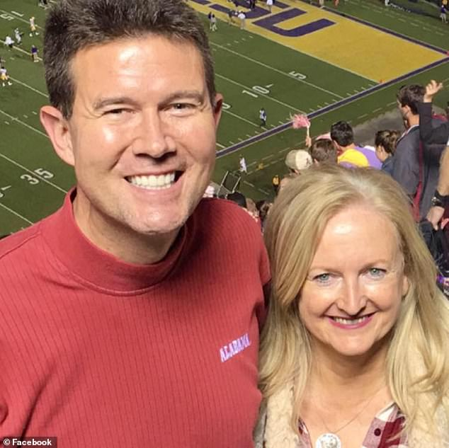 'It's clear that I had an inappropriate relationship with her, and it is not something that I am proud of or something that is something that - I'm very disappointed in myself,' Merrill (pictured above with his wife) said
