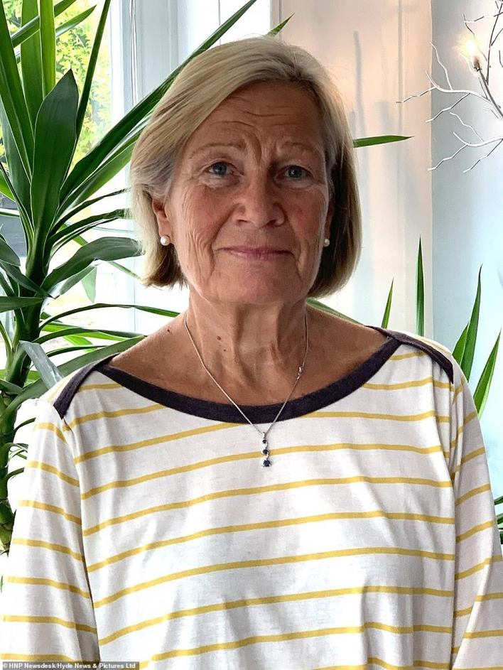 A woman, thought to be his second wife, named locally as Anne Schreiber (pictured), is also believed to have suffered knife injuries in the attack at the home, named Moorhill