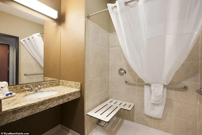COTULLA: A bathroom at theMicrotel Inn & Suites by Wyndham