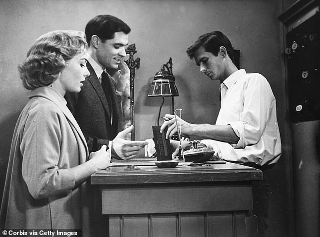The character of Norman Bates, right, is seen at the Bates Motel in the classic Alfred Hitchcock thriller Psycho