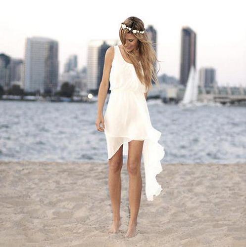 Vestidos cortos para matrimonio en la playa