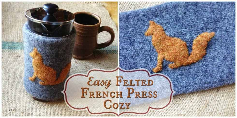 how to make a french press cozy