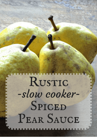 slow cooker spiced pear sauce pinterest