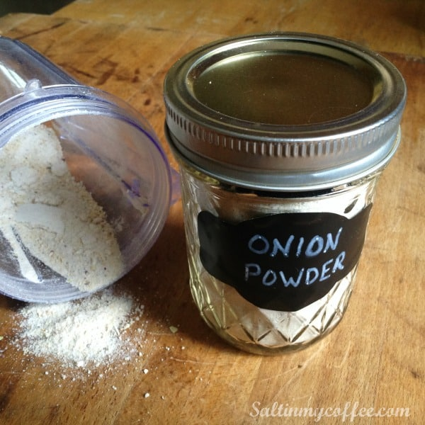how to make onion powder from fresh onions