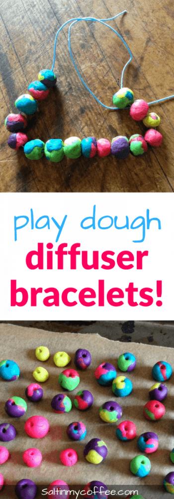 play dough diffuser bracelets