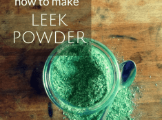 how to make leek powder