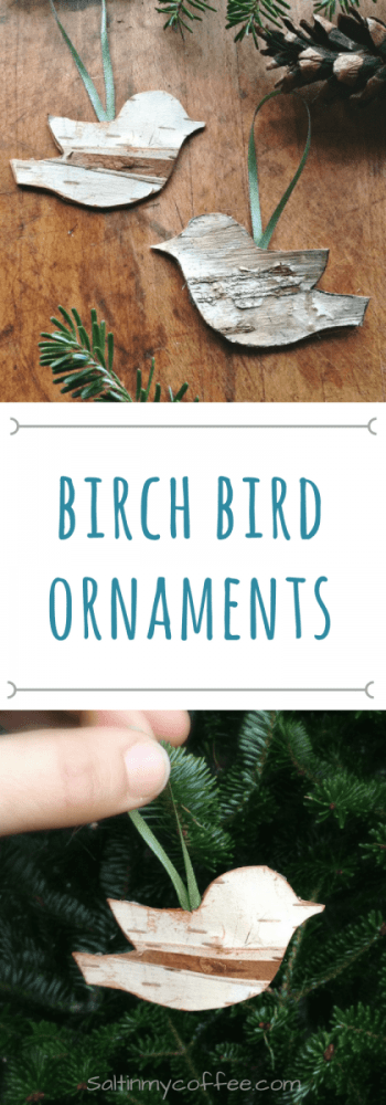 Handmade Rustic Birch Bird Ornaments