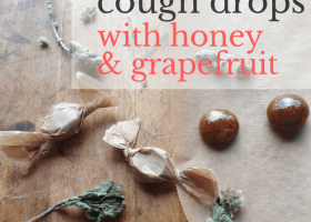Horehound Cough Drops with Honey & Grapefruit