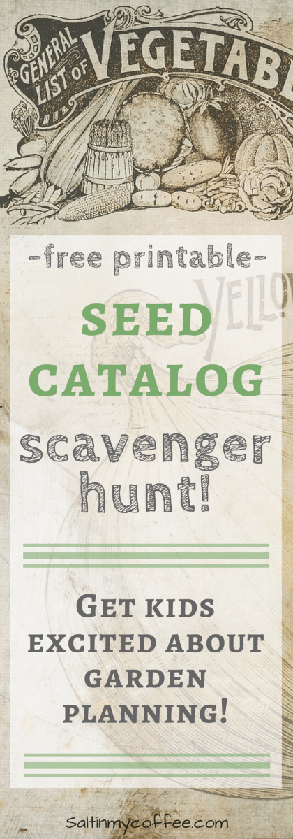 seed catalog scavenger hunt