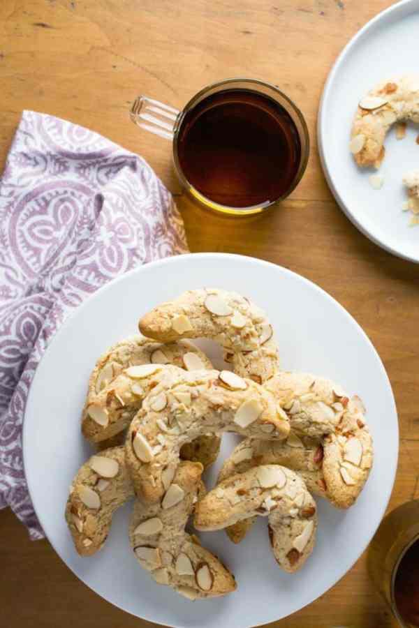 keto almond crescents