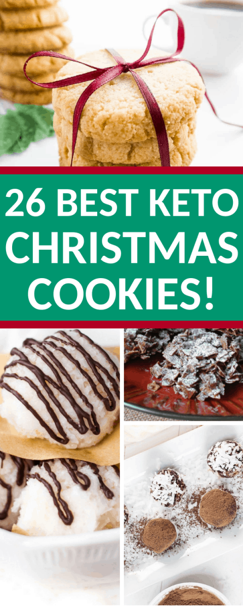 AMAZING LIST of unbelievably great Keto Christmas Cookies! Wonderful low carb Christmas cookies! #ketochristmascookies #ketorecipes #ketochristmas #lowcarb #lowcarbcookies