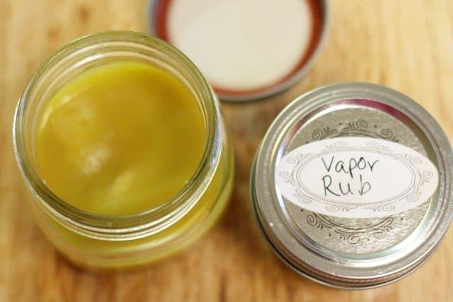 homemade vapor rub in jar