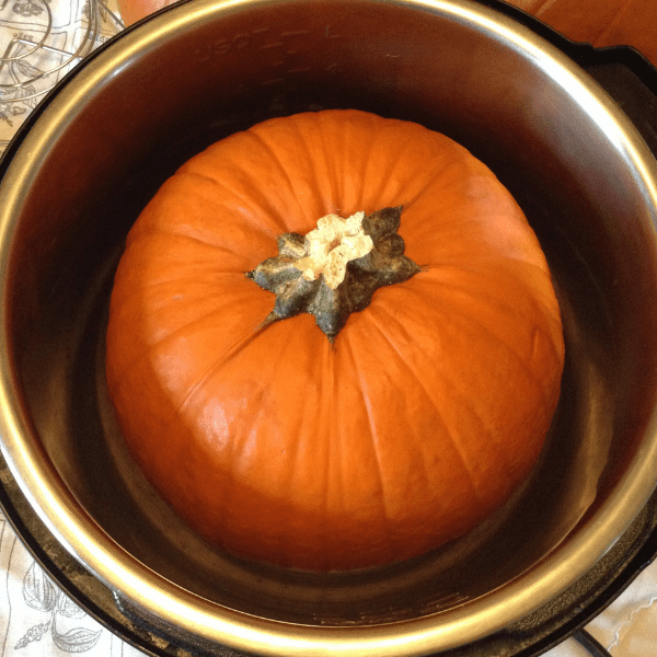 it's ok to pressure cook a pumpkin with the stem on