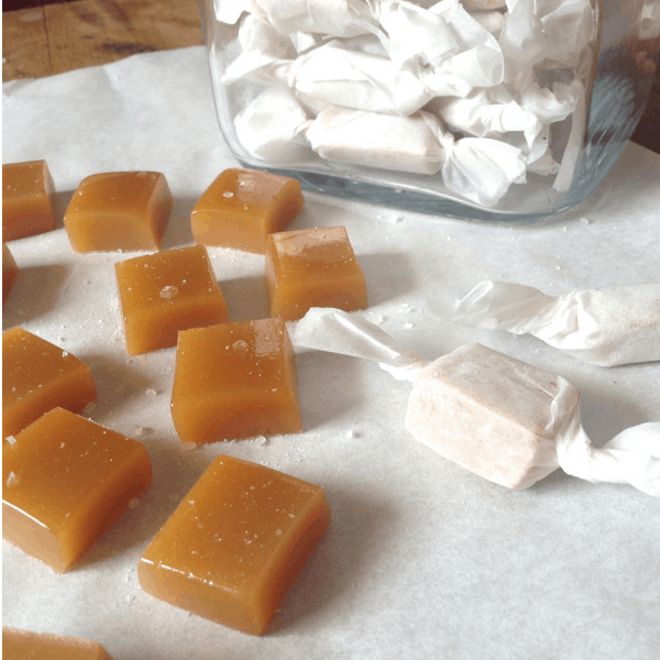diy salted honey maple caramels without corn syrup