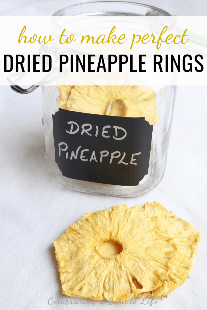 dried pineapple rings in airtight container