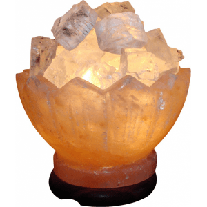 Zigzag salt lamp