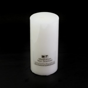 Large Non Scented Meditation Candle