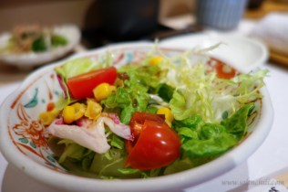 Salad with citrus-soy dressing