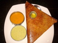 Masala Dosa. Notice the Ghee cup