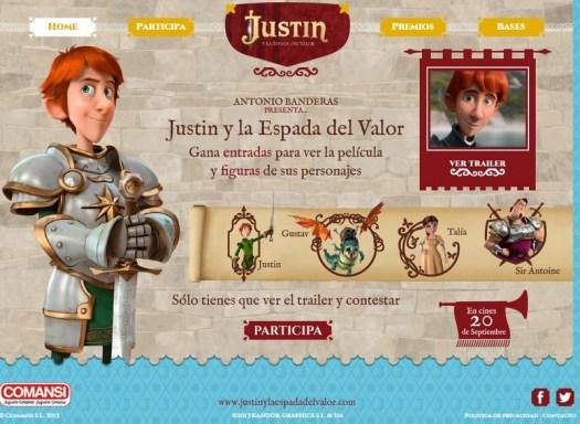 Figuras de Comansi de Justin y la Espada del Valor