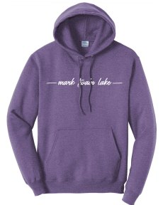 Mark Twain Lake Hoodie heather purple