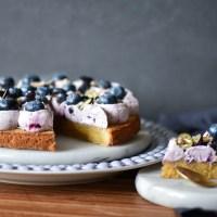Kladdkaka med kardemumma, brynt smör och blåbär!