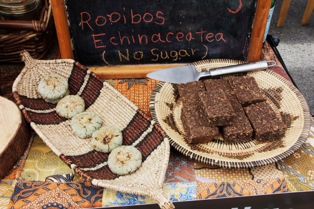 cookies for sale at the Salt Spring Saturday Market