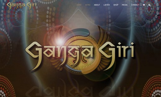 Ganga Giri Web Site by Salt Spring Design