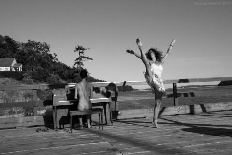 Surreal Ballerina Bird Woman on Salt Spring Island, British Columbia, Canada