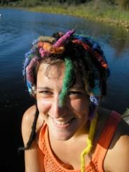 Blackburn Lake, girl with sculptured hair