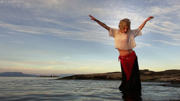 The Melissa Dancing with Eagles Wing, Berry Point, Gabriola Island, BC, Canada