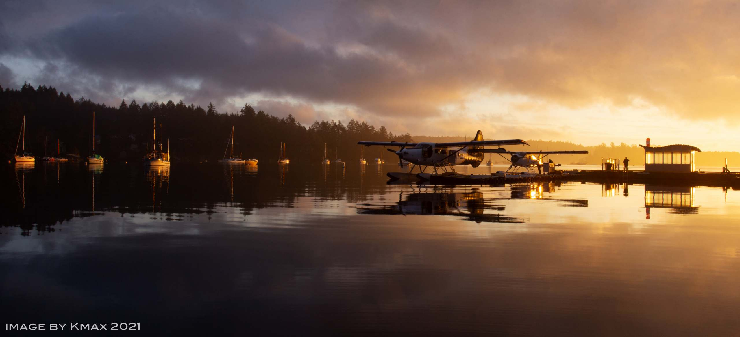 Ganges Harbour Sunrise with Sea plane