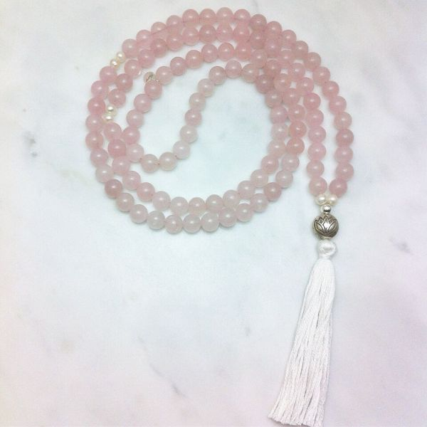 rose quartz mala