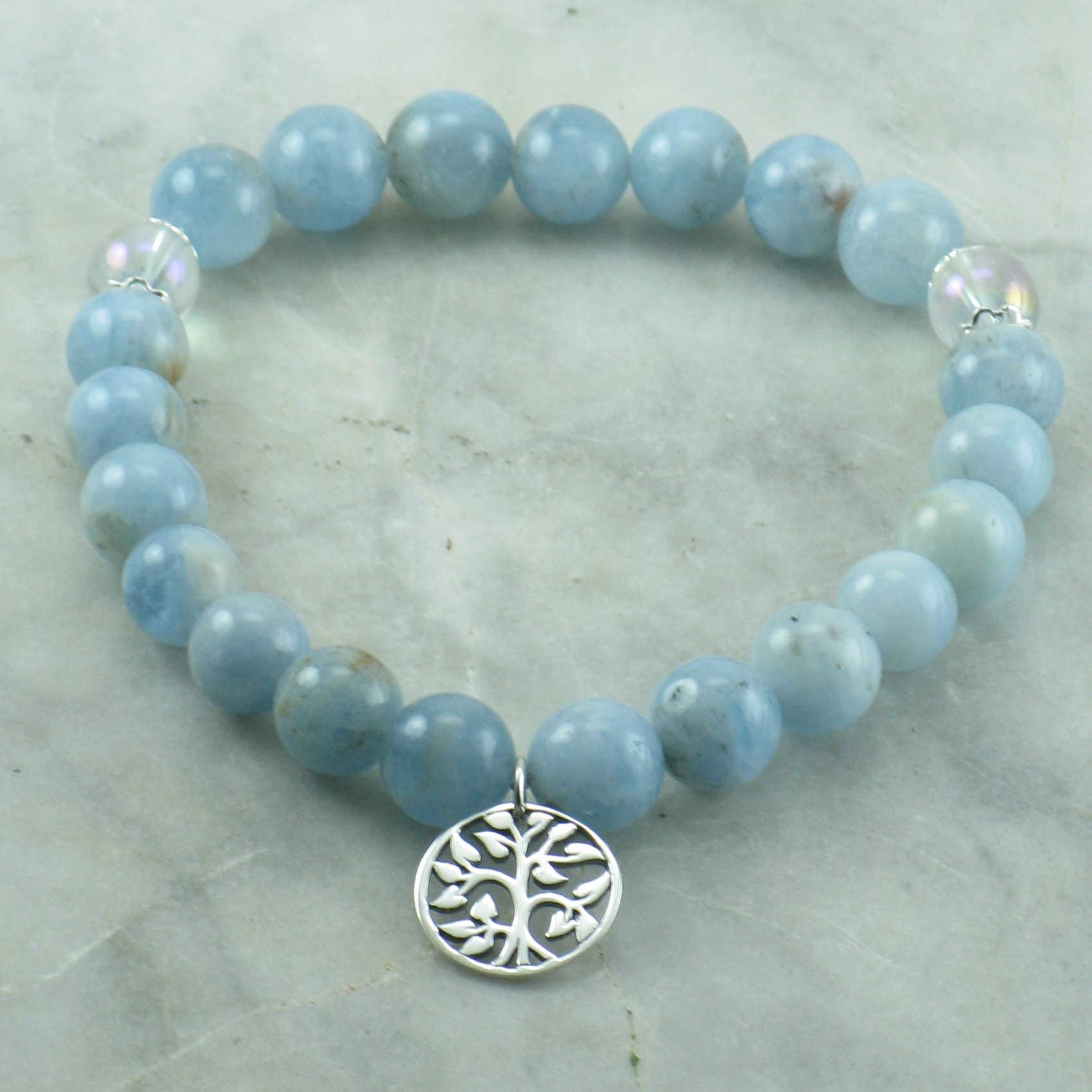 aquamarine mala beads