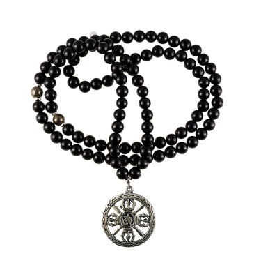 black onyx mala necklace