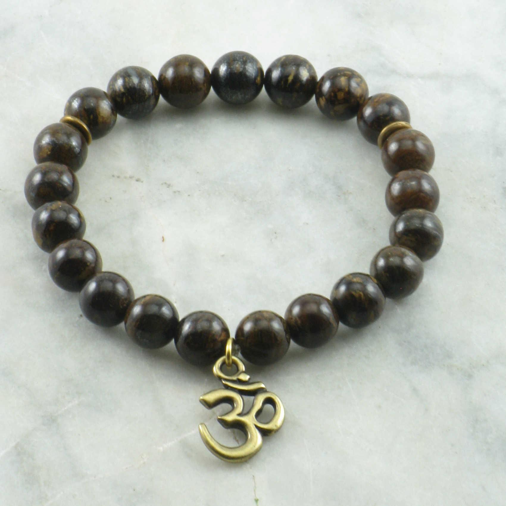 Yoga Beads: 21 Bronzite Mala Beads, Yoga