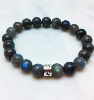 labradorite mala bracelet