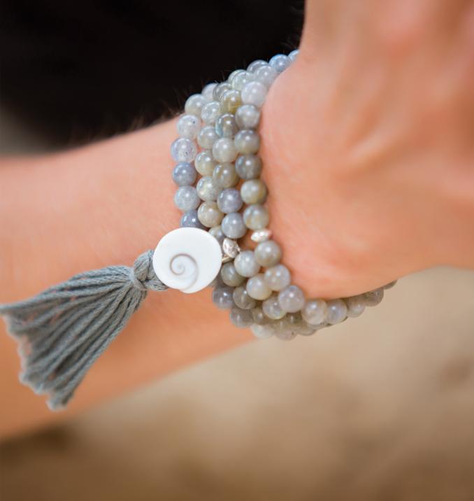 labradorite mala beads with eye of shiva