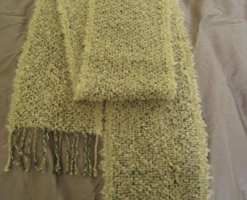 Cream mohair bouclé scarf
