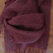 Alpaca silk blend scarf handspun and handwoven by Sandra