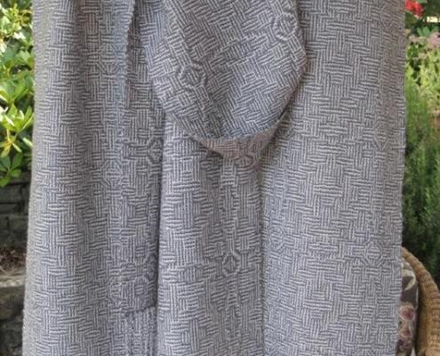 Undulating Shadow Weave Scarves