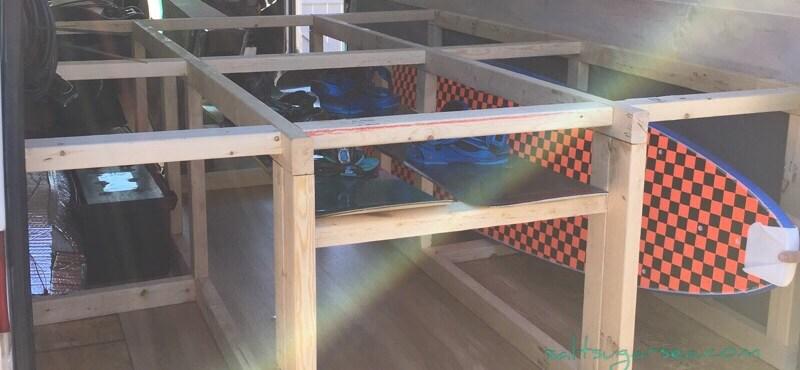 Sprinter van conversion under bed storage idea