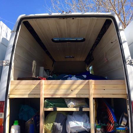 Sprinter Van Conversion Diy Headboard And Nightstand Salt Sugar Sea