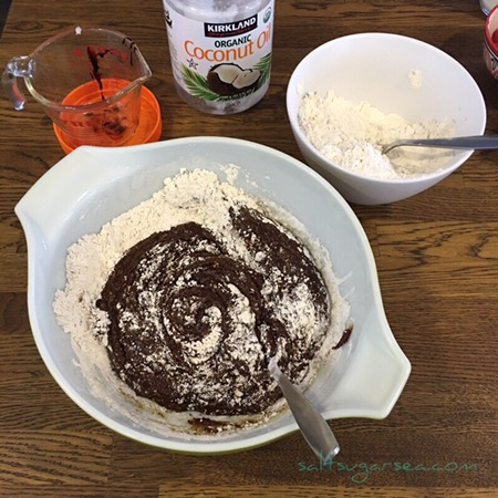 Ginger molasses cookie batter